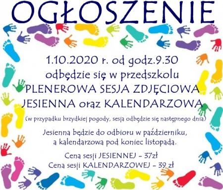 Plenerowa sesja zdjęciowa - 1.10.2020 r.