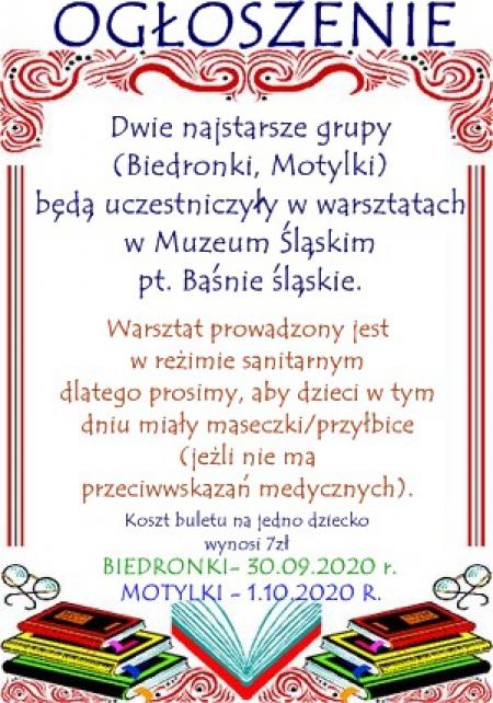 Warsztaty dla najstarszych grup w Muzeum Śląskim