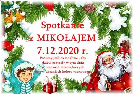 Spotkanie z MIKOŁAJEM - 7.12.2020 r.