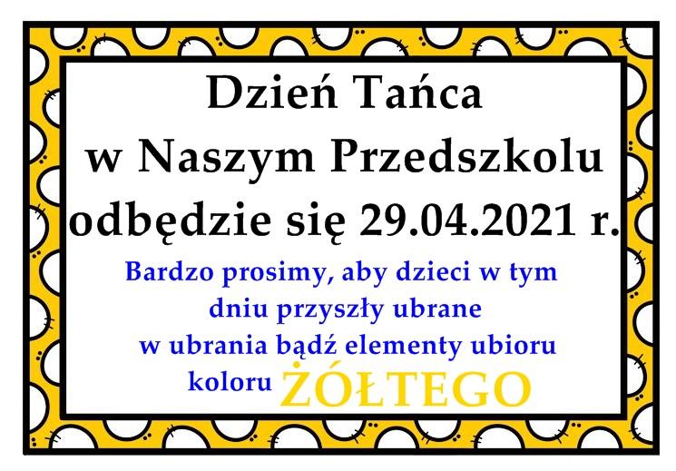 Dzień Tańca - 29.04.2021 r.