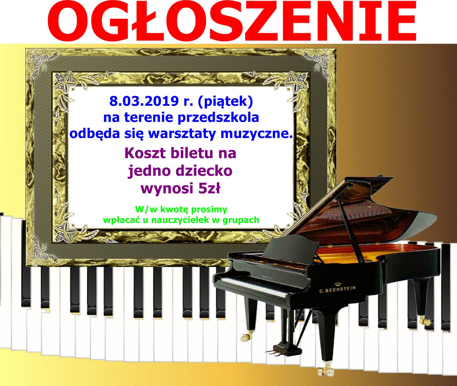 Warsztaty muzyczne 8.03 2019 r.