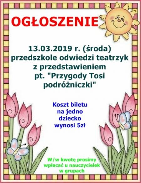 Przedstawienie teatralne - 13.03.2019 r.