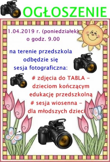 Sesja fotograficzna - 1.04.2019 r.