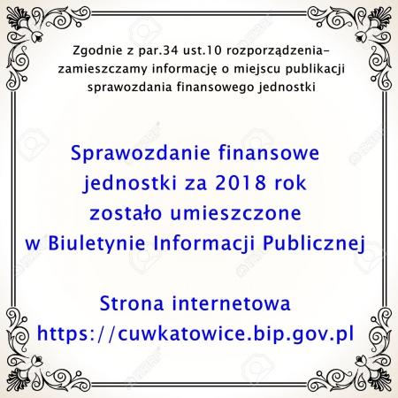 BIP- informacja nt. sprawozdania finansowego