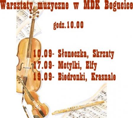 Warsztaty muzyczne w MDK Bogucice