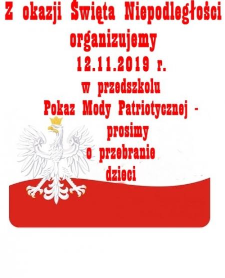 Pokaz Mody Patriotycznej -12.11.2019