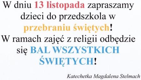 Bal Wszystkich Świętych -13.11.2019 r.