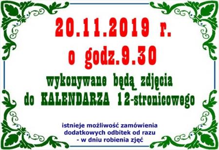 20.11.2019 - zdjęcia do kalendarza 12-stronicowego