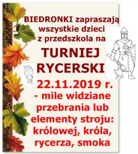 Turniej Rycerski- 22.11.2019 r.
