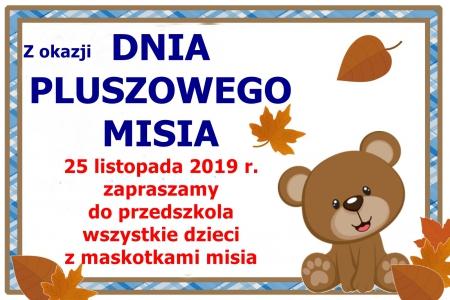Dzień Pluszowego Misia - 25.11.2019 r.