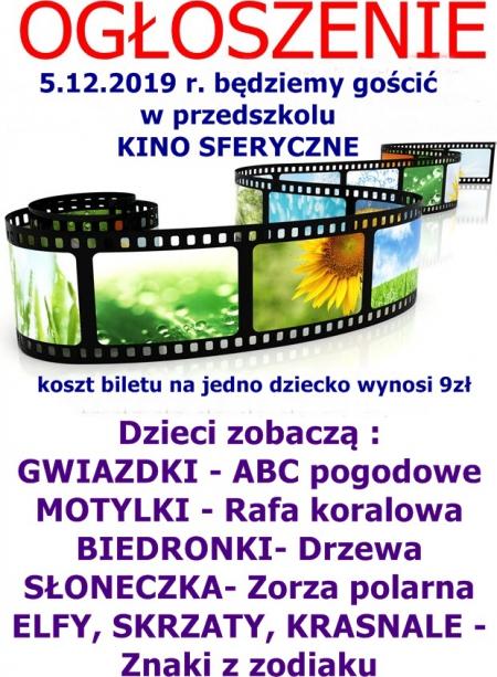 Kino Sferyczne - 5.12.2019 r.