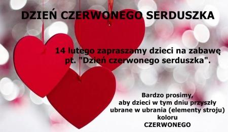 Dzień Czerwonego Serduszka - 14.02.2020 r.