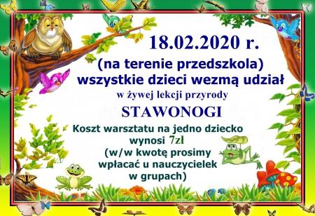 Żywa lekcja przyrody - stawonogi - 18.02.2020