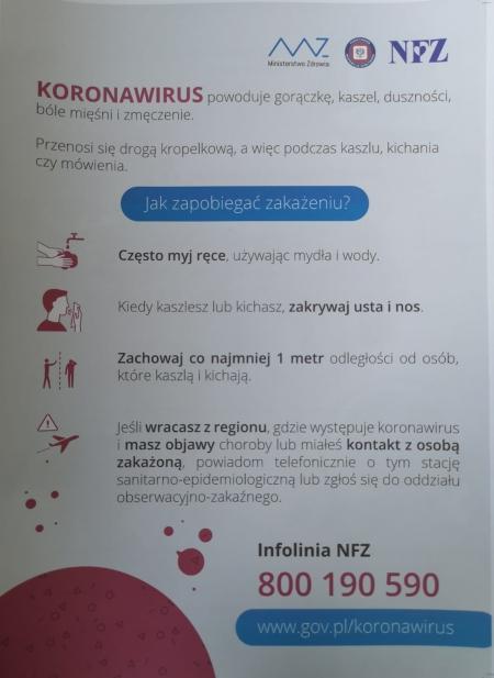 Informacja z Urzędu Wojewódzkiego