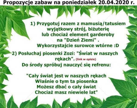 Ekologia - 20.04-24.04.2020 r.